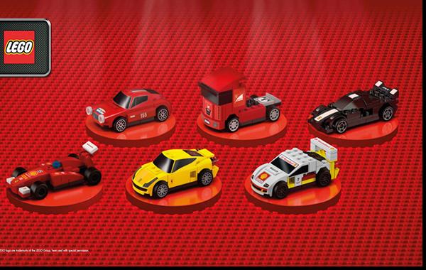 La colección consta de cuarto coches Ferrari  armables.