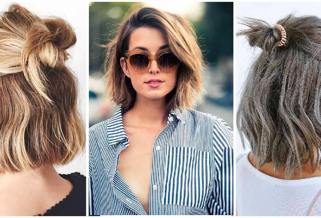 En una tendencia ascendente peinados pelo corto faciles Fotos de tutoriales de color de pelo - Ideas de peinado para quienes tienen el pelo corto